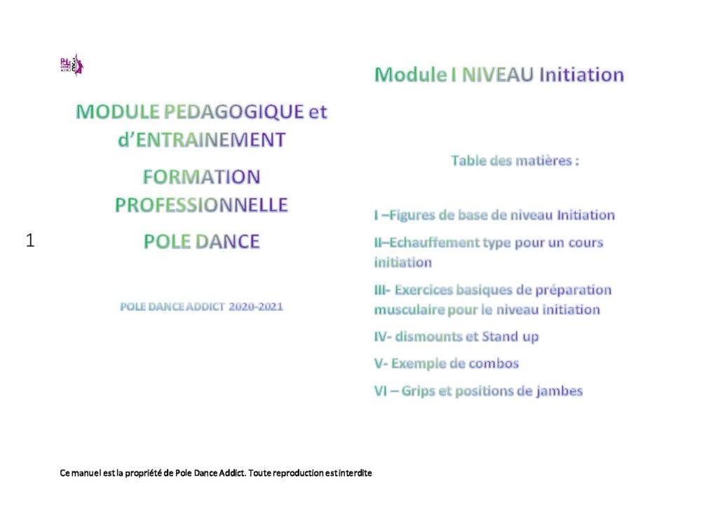 Module initiation formation Professionnelle Pole Dance à Grenoble